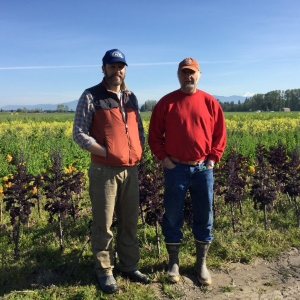 Time & Ray admire their field crops